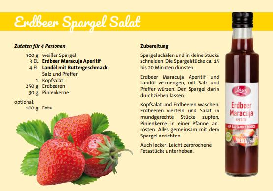 Erdbeerpargelsalat