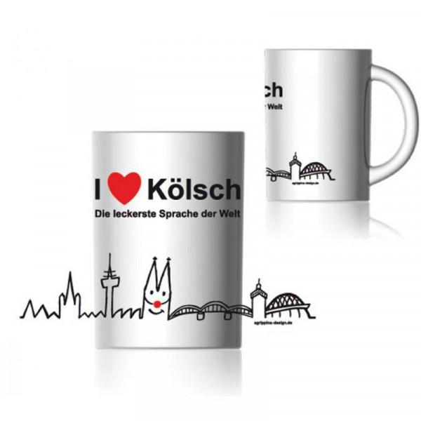 """Kaffeebecher """"I love Kölsch"""""""