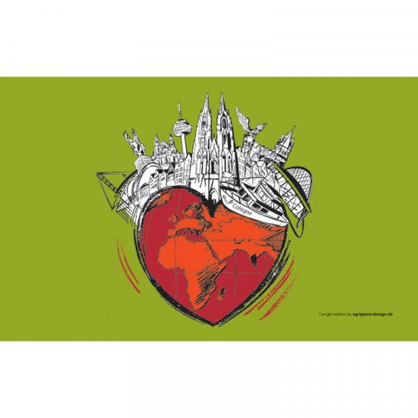 Frühstücksbrettchen Kölle Herz - grün